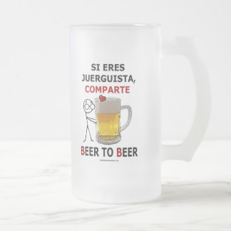 Beer 2 Beer Frosted Glass Beer Mug