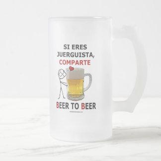 Beer 2 Beer Frosted Glass Mug