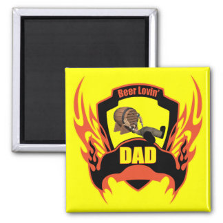 Beer 2 Inch Square Magnet