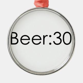 Beer:30 Black Metal Ornament