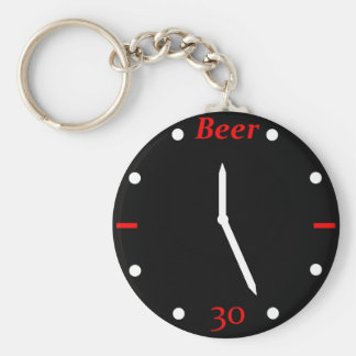 BEER 30 - Clock Key Chains