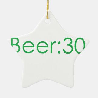 Beer:30 Green Ceramic Ornament