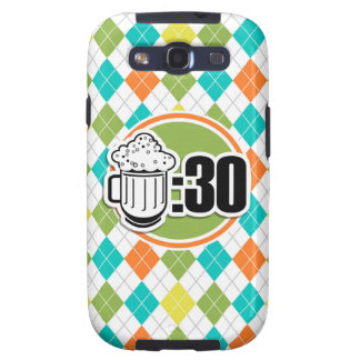 Beer:30 on Colorful Argyle Pattern Galaxy S3 Cases