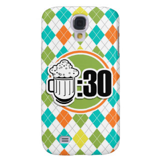 Beer:30 on Colorful Argyle Pattern Galaxy S4 Cases