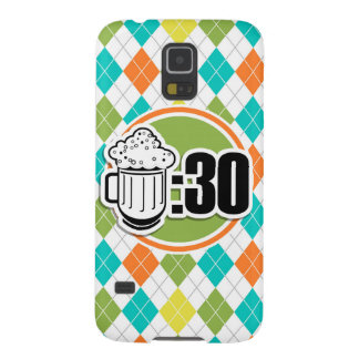 Beer:30 on Colorful Argyle Pattern Galaxy S5 Case
