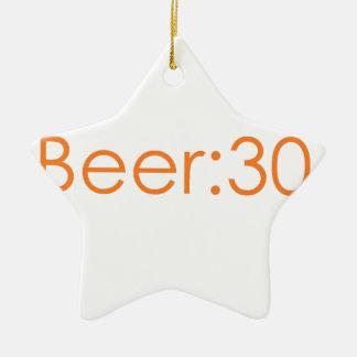 Beer:30 orange ceramic ornament