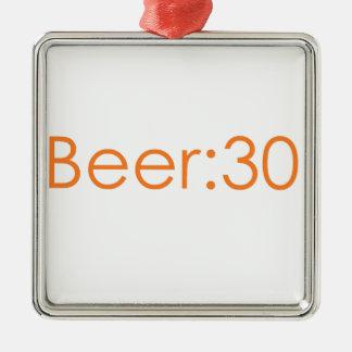 Beer:30 orange metal ornament