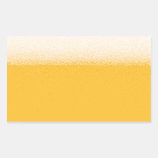 Beer 4th design rectangular sticker