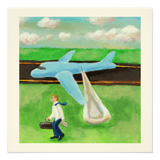 Beer a Big Slide and my Dignity - quitting plane Personalized Invites