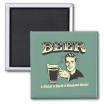 Beer: A Pitcher Is Worth 1000 Words 2 Inch Square Magnet