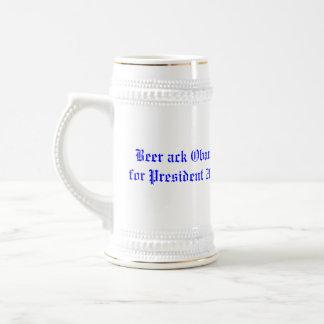 Beer ack Obama for President 2008 Mug