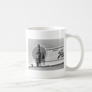 Beer Advertising Billboard, 1940 Classic White Coffee Mug