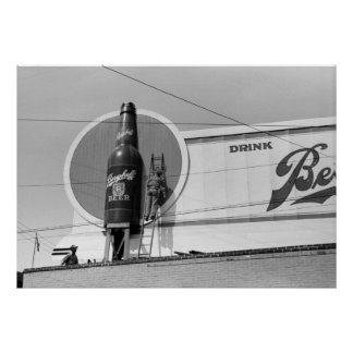 Beer Advertising Billboard, 1940 Poster
