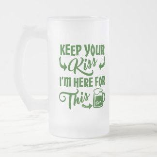 Beer Allegiance Funny Irish Drinking Frosted Glass Beer Mug