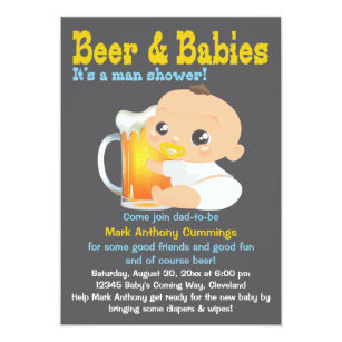 For dad baby shower invitations zazzle beer and babies dad to be baby shower invitation filmwisefo