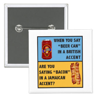 Beer and Bacon Pinback Button
