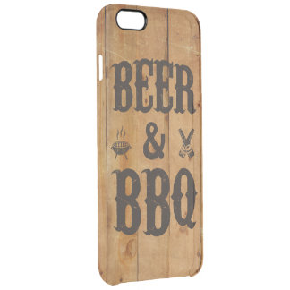Beer and BBQ Clear iPhone 6 Plus Case