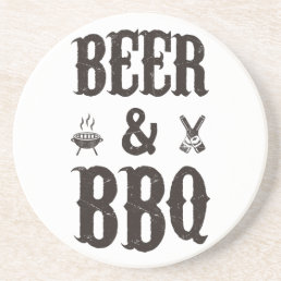 Beer and BBQ Drink Coaster