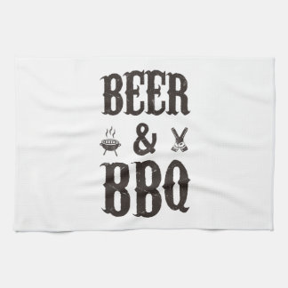 Beer and BBQ Hand Towel