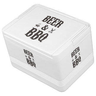 Beer and BBQ Igloo Can Cooler