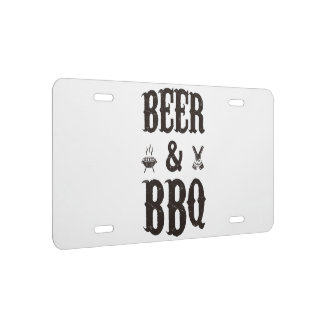 Beer and BBQ License Plate
