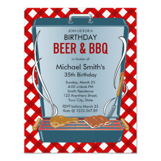 Beer and BBQ Party Card