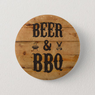 Beer and BBQ Pinback Button