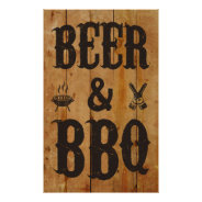 Beer and BBQ Posters at Zazzle