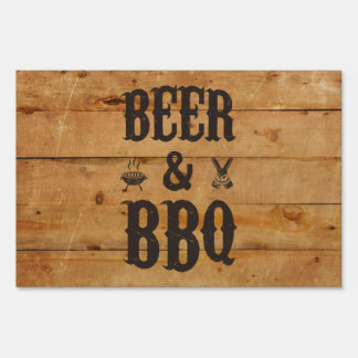Beer and BBQ Sign
