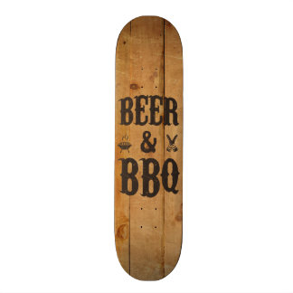 Beer and BBQ Skateboard Deck