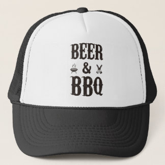 Beer and BBQ Trucker Hat