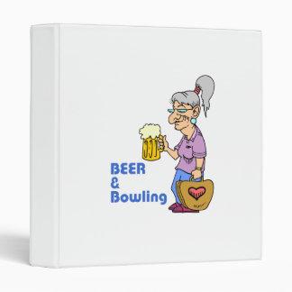 beer and bowling grandma binders