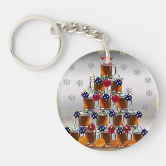 Beer and Chips Key Chain