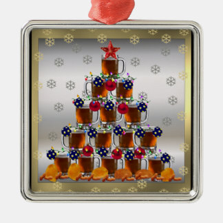 Beer and Chips Christmas Ornament