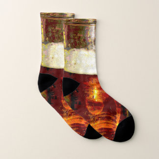 Beer and Foam Abstract Socks