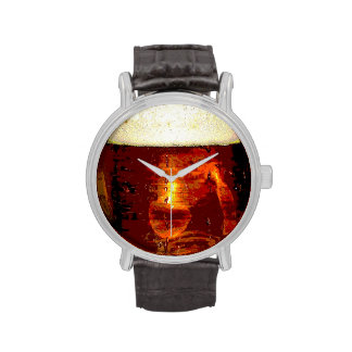 Beer and Foam Wristwatch