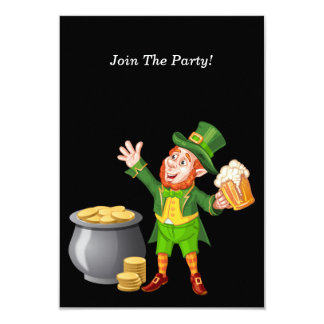 Beer and Gold for Saint Patrick's Day Card
