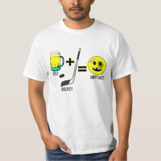 Beer And Hockey Equals Happiness - Light Design T-Shirt