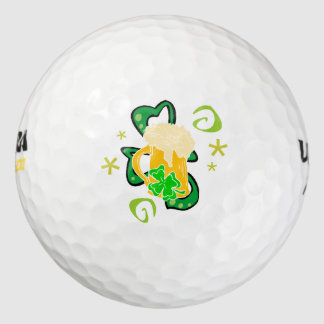 Beer and Irish Shamrock Pack Of Golf Balls