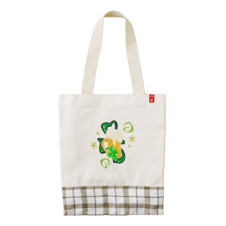 Beer and Irish Shamrock Zazzle HEART Tote Bag