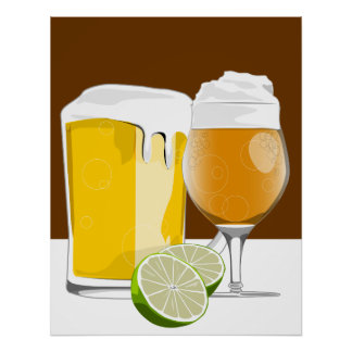 Beer and limes poster