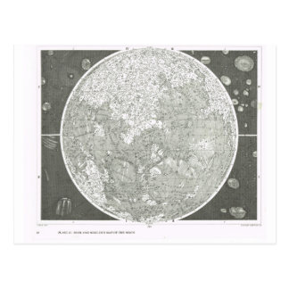 Beer and Madler's map of the moon Postcard