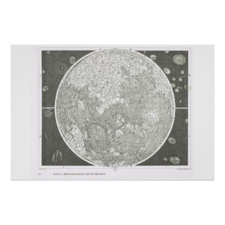 Beer and Madler's map of the moon Poster