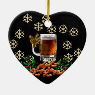 Beer and Peanuts Ceramic Ornament