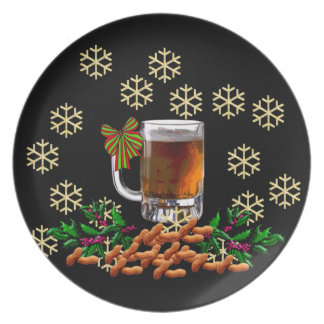Beer and Peanuts Dinner Plate
