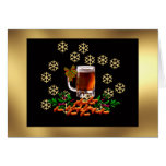 Beer and Peanuts Greeting Card