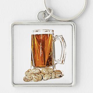 Beer and Peanuts Keychain