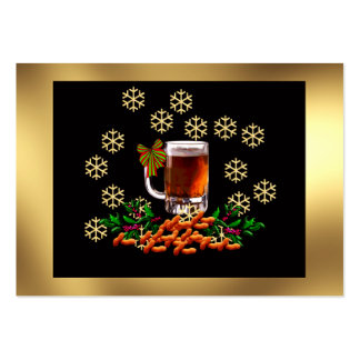 Beer and Peanuts Large Business Card
