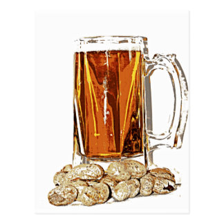 Beer and Peanuts Postcard