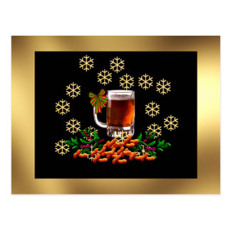 Beer and Peanuts Postcard